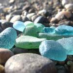 みなべの海岸ではシーググラスが拾えちゃう